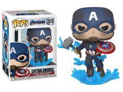 Pop! Marvel: Avengers: Endgame - Captain America (Broken Shield & Mjolnir)