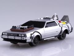 Back to the Future III Movie Mecha #13 Pullback DeLorean (Railroad Ver.) 1/43 Scale Model Kit