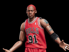 NBA Motion Masterpiece Dennis Rodman 1/9 Scale Figure With Black Ball