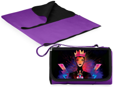 Snow White Evil Queen Outdoor Picnic Blanket & Blanket Tote (Purple)