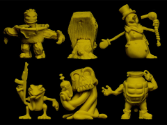 Run-A-Mucks (Yellow) Mini Figure Six-Pack