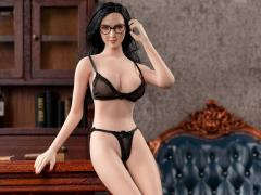 Exquisite Underwear (Black) Camry Series Spring Large Bust 1/6 Scale Accessory Set (028-LA)
