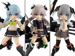 Heavily Armed High School Girls Desktop Army Team 1 Box of 3 Figures