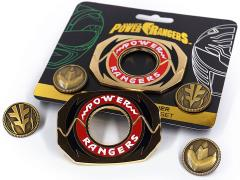 Mighty Morphin Power Rangers Legacy Power Morpher Pin Set (Green/White)