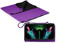 Sleeping Beauty Maleficent Outdoor Picnic Blanket & Blanket Tote (Purple)
