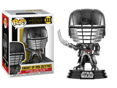 Pop! Star Wars: The Rise of Skywalker - Knight of Ren With Scythe (Hematite Chrome)