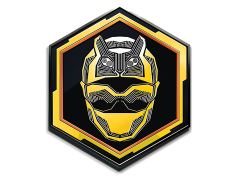 Power Rangers Beast Morphers Yellow Ranger Enamel Pin