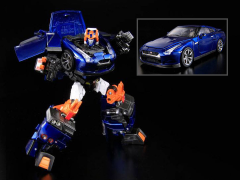 Transformers Alternity A-01D Nissan GT-R Dai Atlas (Aurora Flare Blue Pearl) Exclusive