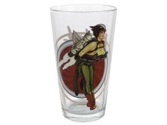 DC Toon Tumblers Bombshells Hawkgirl Pint Glass