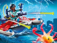 The Real Ghostbusters Playmobil Winston Zeddemore with Aqua Scooter