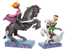 The Legend of Sleepy Hollow Disney Traditions Headless Horseman & Ichabod Figurine Set