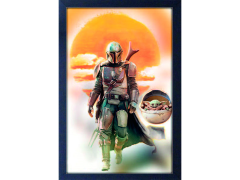 The Mandalorian Mando & The Child Art Print