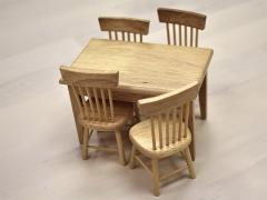 Extreme-Sets Furniture Collection 1/12 Scale Dining Set