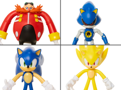 "Sonic The Hedgehog 4"" Basic Wave 2 Set of 4 Bendy Figures"