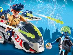 The Real Ghostbusters Playmobil Ray Stantz with Skybike