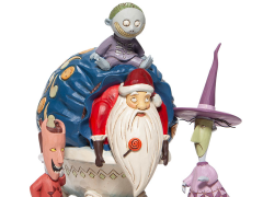 The Nightmare Before Christmas Disney Traditions Lock, Shock, and Barrel with Santa Figurine