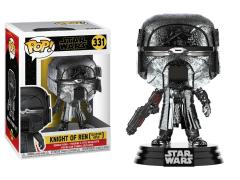 Pop! Star Wars: The Rise of Skywalker - Knight of Ren With Blaster (Hematite Chrome)