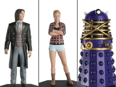 Doctor Who Figurine Collection Companion Set #9 Eighth Doctor & Lucie Miller With Dalek