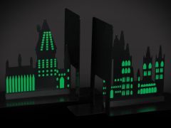 Harry Potter Glow-in-the-Dark Hogwarts Bookends