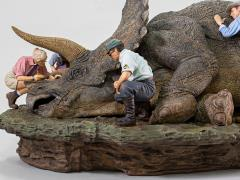 Jurassic Park Triceratops 1/10 Deluxe Art Scale Limited Edition Diorama Statue