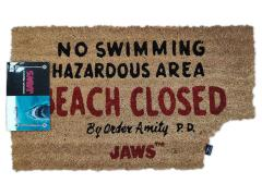 Jaws Beach Closed Door Mat