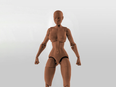 Jane Doe (Brown) Superheroine 1/10 Scale BBTS Exclusive Athletic Body