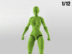 Jane Doe (Green) Superheroine 1/12 Scale BBTS Exclusive Athletic Body