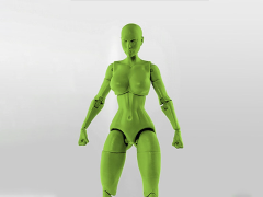 Jane Doe (Green) Superheroine 1/10 Scale BBTS Exclusive Athletic Body