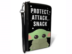 "The Mandalorian The Child ""Protect, Attack, Snack"" Zip Around Wallet"