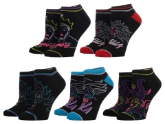 Disney Villains Ankle Socks Five-Pack
