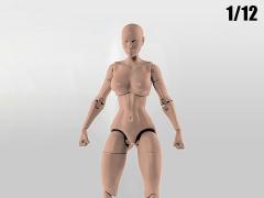 Jane Doe (Fair) Superheroine 1/12 Scale BBTS Exclusive Athletic Body