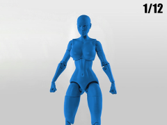Jane Doe (Blue) Superheroine 1/12 Scale BBTS Exclusive Athletic Body