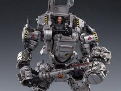 Dark Source Steelbone Attack Mecha (H02-Silver) With Pilot 1/24 Scale Figure Set