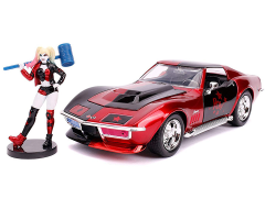 DC Comics Hollywood Rides Harley Quinn & 1969 Chevy Corvette 1/24 Scale Vehicle