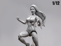 Jane Doe (Gray) Superheroine Deluxe 1/12 Scale BBTS Exclusive Athletic Body
