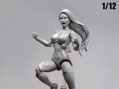Jane Doe (Gray) Superheroine Deluxe 1/12 Scale BBTS Exclusive Athletic Body