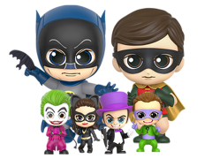 Batman Classic TV Series Cosbaby Batman & Robin With Villains