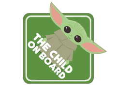 The Mandalorian The Child On Board Window Decal