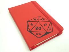 D20 Dice Notebook (Matte Red)