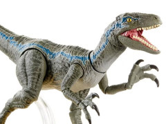 Jurassic World: Fallen Kingdom Amber Collection Velociraptor Blue