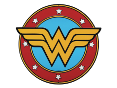 DC Comics Wonder Woman Logo Die Cut Tin Sign