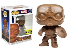 Pop! Marvel: Captain America (Wood Deco) Exclusive