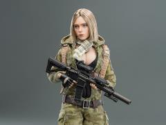 MC Camouflage Women Soldier Villa 1/12 Scale Figure