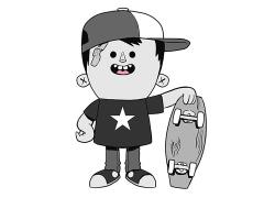 Josh Divine's Alley Kids Jake Enamel Pin