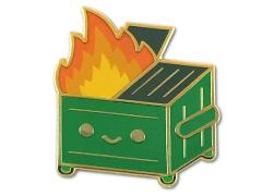 Lil Dumpster Fire Enamel Pin