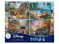 Thomas Kinkade Disney 4 In 1 500-Piece Puzzle Multipack (#1)