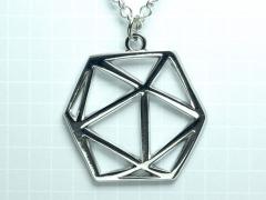 D20 Dice Pendant (Silver)