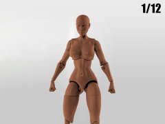 Jane Doe (Brown) Superheroine 1/12 Scale BBTS Exclusive Athletic Body