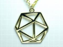 D20 Dice Pendant (Gold)
