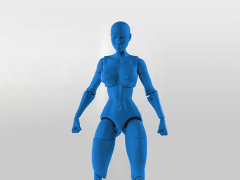 Jane Doe (Blue) Superheroine 1/10 Scale BBTS Exclusive Athletic Body
